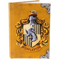 Harry Potter Hufflepuff Crest A6 Notebook - Harry Potter Gifts