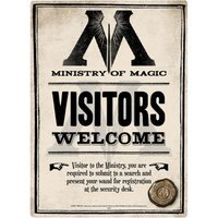 Harry Potter Ministry Of Magic Small Tin Sign - Magic Gifts