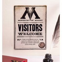Harry Potter Ministry Of Magic Small Tin Sign - Small Gifts