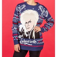 Labyrinth Jareth Knitted Christmas Jumper - Knitted Gifts
