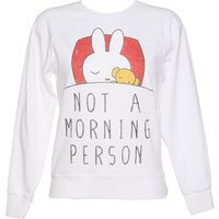 Women's White Miffy Not a Morning Person Sweater - Sweater Gifts