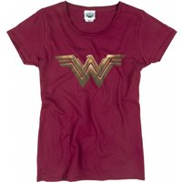 Women's Dark Red Wonder Woman Logo T-Shirt - Superman Gifts