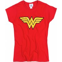 Women's Red Wonder Woman Logo T-Shirt - Wonder Woman Gifts