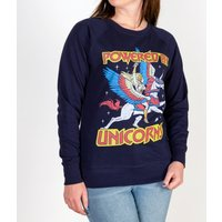 Women's Navy She-Ra Powered By Unicorns Sweater - Unicorns Gifts