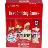 Ladybird Books For Grown Ups The Student Best Drinking Games Card Collection - Student Gifts