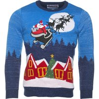 Light Up Sparkly Knitted Sleigh Ride Christmas Jumper from Cheesy Christmas Jumpers - Christmas Jumper Gifts