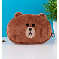 Line Friends Brown Plush Pencil Case - Brown Gifts