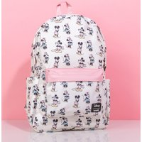 Loungefly Disney Pastel Minnie & Mickey All Over Print Nylon Backpack - Backpack Gifts