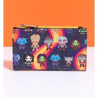 Loungefly Marvel Guardians of the Galaxy Chibi All Over Print Rainbow Wallet - Guardians Of The Galaxy Gifts