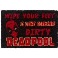 Marvel Comics Deadpool Wipe Your Feet Door Mat - Truffleshuffle Gifts