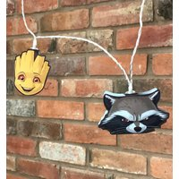 Marvel Comics Guardians Of The Galaxy Groot And Rocket Raccoon String Lights - Guardians Of The Galaxy Gifts