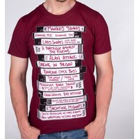 Men's Alan Partridge's Ideas For Television Shows Maroon T-Shirt - Television Gifts