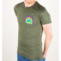 Men's Alien Nostromo Badge Heather Military Green T-Shirt - Military Gifts