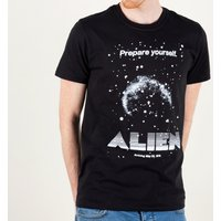 Men's Alien Retro Movie Poster Black T-Shirt - Retro Gifts