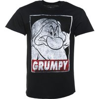 Men's Black Disney Snow White And The Seven Dwarfs Grumpy T-Shirt - Truffleshuffle Gifts