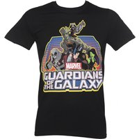 Men's Black Guardians Of The Galaxy Group Logo Marvel T-Shirt - Guardians Of The Galaxy Gifts