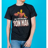Men's Black Iron Man T-Shirt from Fabric Flavours - Marvel Gifts
