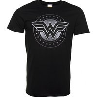 Men's Black Wonder Woman Movie Logo T-Shirt - Wonder Woman Gifts