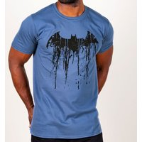 Men's Blue Batman Graffiti Logo T-Shirt - Batman Gifts