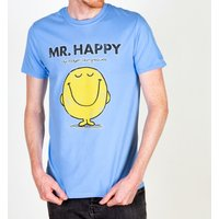 Men's Blue Mr Happy Mr Men T-Shirt - Men Gifts