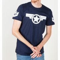 Men's Captain America Super Soldier Navy T-Shirt - America Gifts