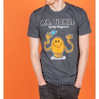 Men's Charcoal Heather Mr Tickle Mr Men T-Shirt - Mr Tickle Gifts