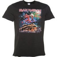 Men's Charcoal Iron Maiden Run To The Hills T-Shirt from Amplified - Iron Maiden Gifts