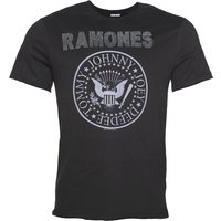 Men's Charcoal Ramones Silver Diamante T-Shirt from Amplified - Ramones Gifts