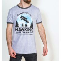 Come and Visit Hawkins Indiana Stranger Things Inspired Ringer T-Shirt - Stranger Things Gifts