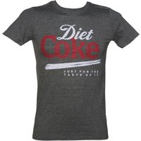Men's Diet Coke Just For The Taste Of It Dark Grey T-Shirt - Diet Coke Gifts