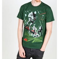 Men's Green Retro AT-ST Archetype Star Wars T-Shirt - Retro Gifts