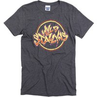 Men's Dark Heather Bill And Ted Inspired Wyld Stallyns T-Shirt - Navy Gifts