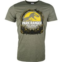 Men's Jurassic Park Isla Nublar Facility Heather Military Green T-Shirt - Military Gifts
