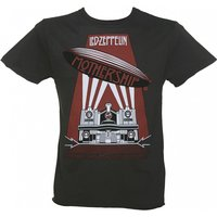 Men's Led Zeppelin Mothership Charcoal T-Shirt from Amplified - Led Zeppelin Gifts
