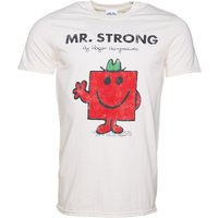 Men's Off White Mr Strong Mr Men T-Shirt - Men Gifts