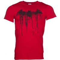 Men's Red Batman Graffiti Logo T-Shirt - Batman Gifts
