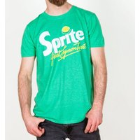 Men's Retro Sprite Logo Heather Irish Green T-Shirt - Retro Gifts
