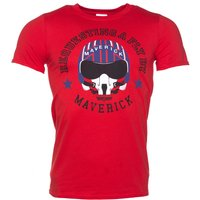 Men's Top Gun Maverick Requesting a Fly By Red T-Shirt - Gun Gifts