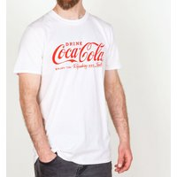 Men's White Drink Coca-Cola Logo T-Shirt - Tshirt Gifts