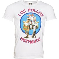 Men's White Los Pollos Hermanos Breaking Bad T-Shirt - Breaking Bad Gifts