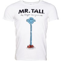Men's White Mr Tall Mr Men T-Shirt - Mr Men Gifts