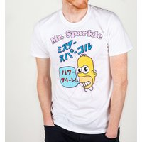 Men's White Simpsons Mr Sparkle T-Shirt - The Simpsons Gifts