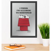 Peanuts Snoopy Allergic To Mornings Mirror - Mirror Gifts