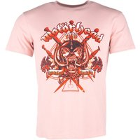 Pink Motorhead Live To Win T-Shirt from Amplified - Motorhead Gifts