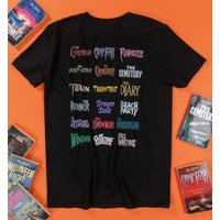 Point Horror Titles Collection Black T-Shirt - Horror Gifts
