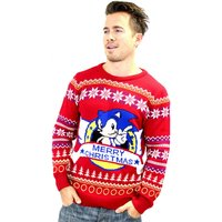 Sonic The Hedgehog Red Christmas Jumper - Sonic Gifts
