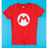 Red Super Mario Brothers Mario T-Shirt - Computer Games Gifts