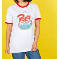 Riverdale Pop's Retro Diner Logo Ringer T-Shirt - Retro Gifts
