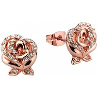Rose Gold Plated Beauty & The Beast Enchanted Rose Crystal Stud Earrings from Disney by Couture Kingdom - Disney Jewellery Gifts