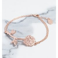 Rose Gold Plated Beauty & The Beast Rose Bracelet - Disney Gifts